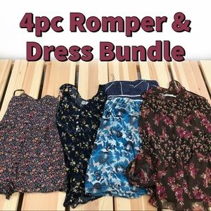 4pc Anthropologie Urban Outfitters Romper Dress